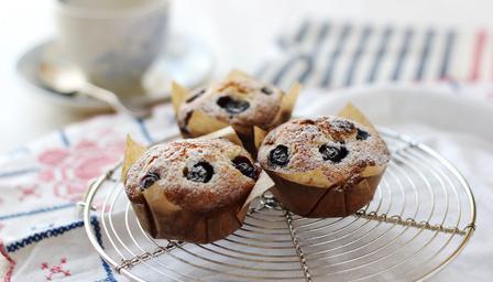 Berry Marzipan Cupcakes