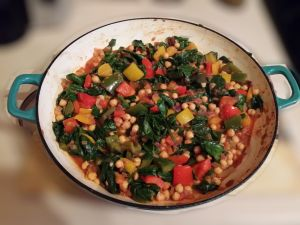 Pepper Chickpea and Spinach Curry